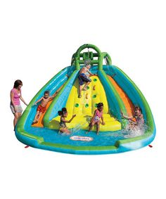 this is amazing. // Rocky Mountain River Race Bounce House Set by Little Tikes