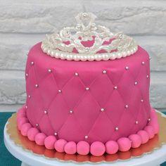Tort dla dziewczynki - korona księżniczki, pink princess cake, orchideli cake for princess with fondant tiara