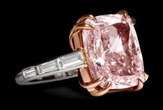 Pink diamond engagement ring by Cartier -Platinum, Diamonds, Pink Diamond, Rose Gold