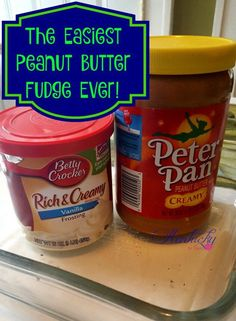 The Easiest Peanut Butter Fudge Ever. Also listed variations of recipe, still us… The Easiest Peanut Butter Fudge Ever. Also listed variations of recipe, still using only two ingredients. Peanut Butter Recipes, Fudge Recipes, Candy Recipes, Sweet Recipes, Dessert Recipes, Easy Peanut Butter Fudge, Dessert Ideas, Dessert Dishes, Bakery Recipes