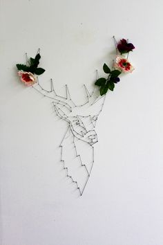 reindeer string or wire art project inspiration | OUCH