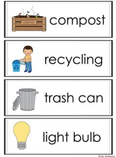 *FREEBIE* Earth Day Word Wall Vocabulary Cards