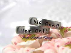 Set of 2 Rings, 2 Rings, Matching Couples Rings - Matching 5 mm Brushed Stainless Steel Rings on Etsy, $30.00