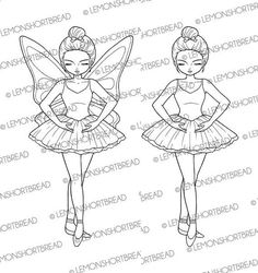 Digital Stamp Ballerina Ballet Digi Download Fairy Girl