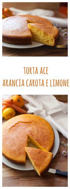 TORTA ACE, ARANCIA, CAROTA E LIMONE UN PIENO DI VITAMINE! :D