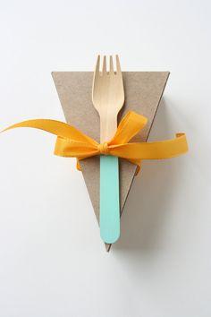 25 Color Block tenedores de madera por alamodo en Etsy