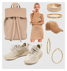 """""""Beige - Satin and Suede"""" by harriet-xo-fae ❤ liked on Polyvore featuring DESA 1972, Missguided, Cartier, rag & bone, Bony Levy, suede, satin, Yeezy and missguided"""