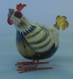 Rocking Rooster Brown Chicken Ornament(Mini)HU