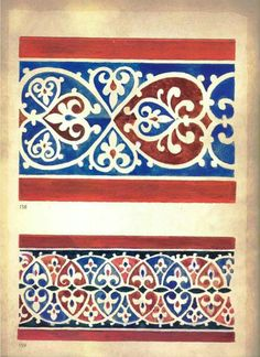 Serbian fresco pattern Mexican Pattern, Oriental Pattern, Border Pattern, Pattern Design, Pattern Art, Islamic Pattern, Boarder Designs, Fabric Stamping, Hand Embroidery Designs