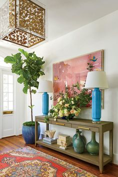 Gathered :: Wilmington, NC Lindsey and Grayson Cheek's 1928 Colonial home renovation. Lindsey is the Owner and Principal Designer of Gathered, a full-service interior design firm + curated boutique in Wilmington, NC. Decor, House Design, Sweet Home, Coastal Living Rooms, Interior Design, Home Decor, House Interior, Room Decor, Colonial House