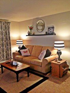 Living room. good symmetrical style