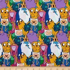 Licensed by Cartoon Network to Springs Creative Products, this cotton print is perfect for quilting, apparel and home décor accents. Colors include green, blue, yellow, white, and purple. Due to licensing restrictions, this item can only be shipped to USA, Puerto Rico, and Canada.