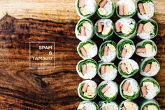 Spam and Egg Salad Roll Recipe (sub smoky tofu strips from PPK for spam) Canned Meat, Egg Salad, Sushi Salad, Appetizer Recipes, Sushi Recipes, Recipies, Appetizers, Rolls Recipe, Gourmet