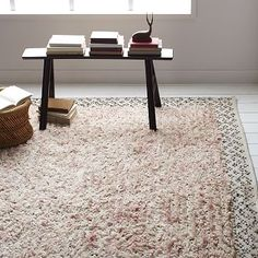 Sequin Knotted Wool Rug #westelm