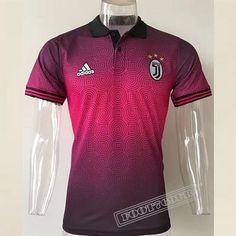 Promo Nouveau Chemise Polo Juventus Manche Courte Noir/Rouge 2017/2018 :Foot769Fr