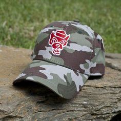 NC State Wolfpack Wolfpacker Camo Hat ee51be4ee0c1