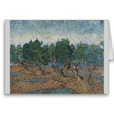 Olive Grove by Vincent Van Gogh Card