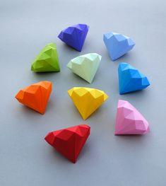 DIY - Create beautiful 3D Paper Diamonds - Joe's Daily