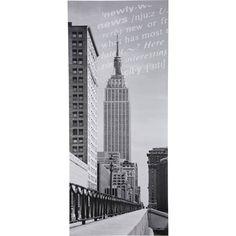 uk availability 1063d da979 Poster de porte Nyc empire state building DECO DOOR x cm