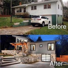 Trendy Home Inspiration Exterior Curb Appeal Exterior Renovation Before And After, Home Renovation, Home Remodeling, Home Exterior Makeover, Exterior Remodel, Style At Home, Fixer Upper, House Makeovers, Cabin In The Woods