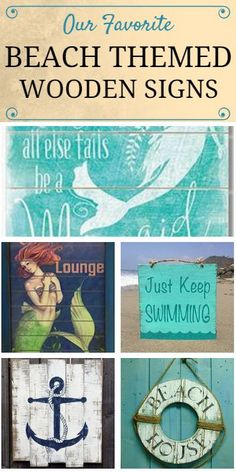 Check Out Our Favorite Beach Themed Wooden Signs At Beachfront Décor! These  Beach, Tropical
