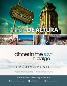 Inserción de revista para Dinner in the Sky Hidalgo