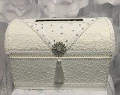 caja de tarjeta para bodas, caja de dinero de pecho de tesoro, boda tarjeta caja marfil boda caja de tarjeta, titular de la envolvente, caja de la boda, boda vintage