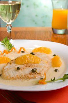 Fish with Orange & Ginger Sauce