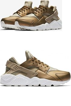a3d636ec0a29 Athletic 95672  Nike Wmns Air Huarache Premium Txt Aa0523-201 Khaki Metallic  Field Summit White -  BUY IT NOW ONLY   78 on eBay!