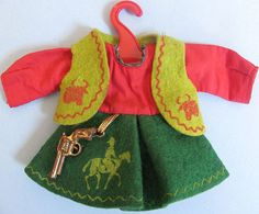 Vintage Vogue Ginny 'Cowgirl' Doll Outfit