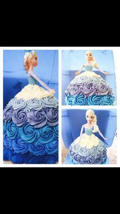 Princess doll cake. Frozen.
