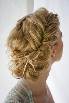 i love this.it's french fishtail braids the are kinda pulled apart (sorta) to make them messier looking.then put into a bun. Beautiful Hair and Makeup,Bridal Hair And Makeup,Hair,Hair & Beauty,Ha Chic Hairstyles, Pretty Hairstyles, Braided Hairstyles, Wedding Hairstyles, Braided Updo, Twisted Updo, Wedding Updo, Prom Updo, Bun Braid