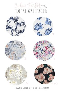 In this issue of Caroline's Five Finds (actually six finds because I couldn't narrow it down!), I scoured the internet for all of my favorite contemporary floral wallpaper prints and am bringing them to you in ONE shoppable location! Modern Floral Wallpaper, Neutral Wallpaper, Navy Wallpaper, Blue Wallpapers, Pattern Wallpaper, Coastal Homes, Coastal Living, Interior Decorating Tips, House Design Photos
