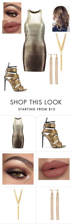 """""""#Metallic Girl"""" by chrissy102 ❤ liked on Polyvore featuring Halston Heritage, Tom Ford, BERRICLE and Charlotte Chesnais"""