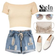 """""""SheIn"""" by hungry-unicorn ❤ liked on Polyvore featuring Alice + Olivia, Vince Camuto, FEIT and TWIG & ARROW"""