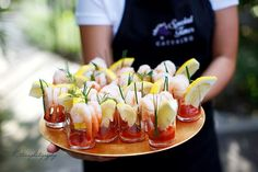 Kick off with a collection of bite size, mini wedding appetizers. Mini-foods are a fabulous way to make it look like you've got an extravagant spread!