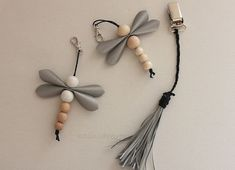 Wood Bead Garland, Beaded Garland, Diy Jewelry, Beaded Jewelry, Jewelery, Bead Crafts, Diy And Crafts, Diy With Kids, Dragon Fly Craft