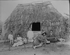 Hawaiian family in front of thatched house. Photo by J.A. Gonsalves (1855-1931). In 1995, the dominant view of sovereignty was centered on ethnicity—the aboriginal (native) Hawaiian, and, as a people, its endeavor was to achieve either sovereignty through independence or a limited sovereignty within the United States.