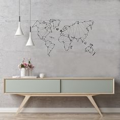 Minimalist Home Deco Removable Wall Decals, Wall Decal Sticker, Wall Stickers, World Map Wall Decal, Wand Tattoo, Minimalist Home, Scandinavian Style, Decorating Your Home, Maps
