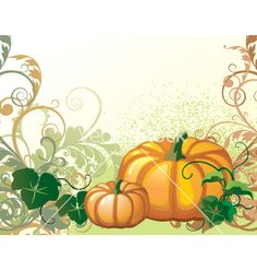 Pumpkin vector image on VectorStock Pumpkin Vine, Pumpkin Vector, Adobe Illustrator, Pumpkins, Vines, Vector Free, Illustration, Image, Tejido