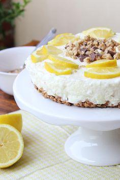 Tartaleta de limón con chocolate y galletas Muesli, Camembert Cheese, Cheesecake, Chocolate, Desserts, Cookies, Pies, Sweets, Deserts
