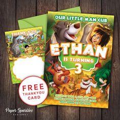Jungle book Invitation Jungle book invite by PaperSparkleDesigns