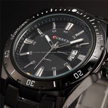 2015 New Curren Men Luxury Brand Stainless Steel Strap Analog Date Men's Quartz  Casual Watch Men Wristwatch Relogio Masculino(China (Mainland))