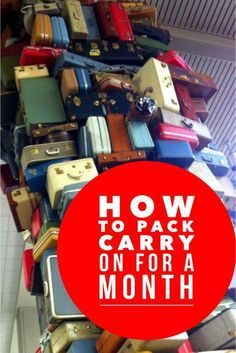How to pack carry on for one month