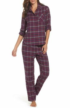 2d5eeb7f2be66 Make + Model Flannel Girlfriend Pajamas Womens Pyjama Sets