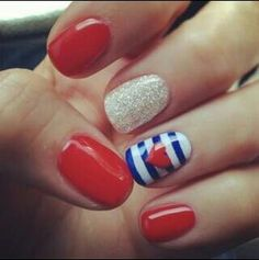 4th nails, maybe with a star instead of a heart