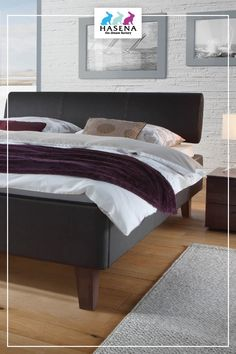 Hasena Dream-Line Bett Ciara mit Kopfteil Elipsa und Fusselement Juve Line, Bed, Furniture, Home Decor, Decoration Home, Fishing Line, Stream Bed, Room Decor, Home Furnishings