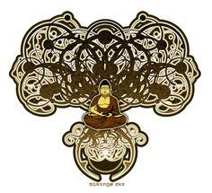 art nouveau Buddha Bodhi tree. oh i love it!
