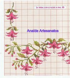 This Pin was discovered by Jud Counted Cross Stitch Patterns, Cross Stitch Designs, Cross Stitch Embroidery, Embroidery Patterns, Hand Embroidery, Cross Stitch Boards, Cross Stitch Rose, Cross Stitch Flowers, Diy Bordados