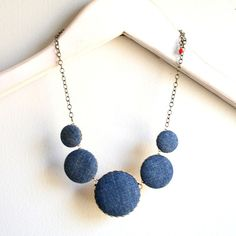 Cool denim necklace!
